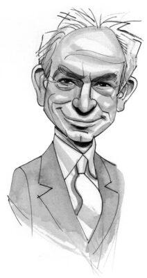 caricature of Ellis Weiner